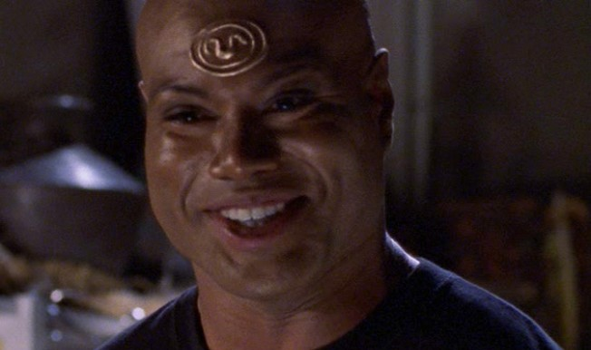 nothing happier in the galaxy than a laughing Teal'c